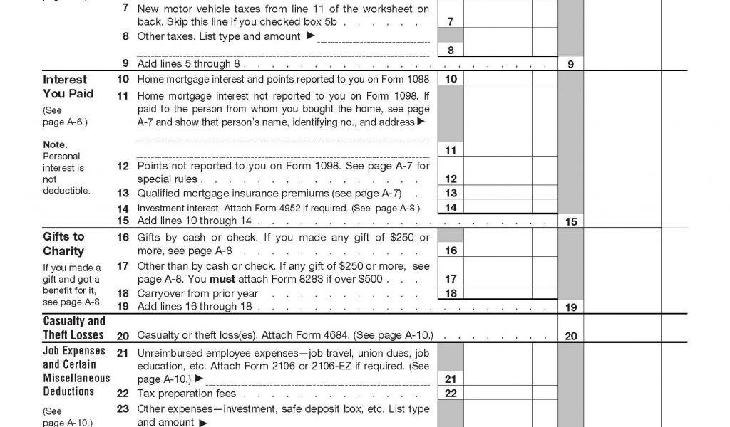 1040a 2012 Printable Form
