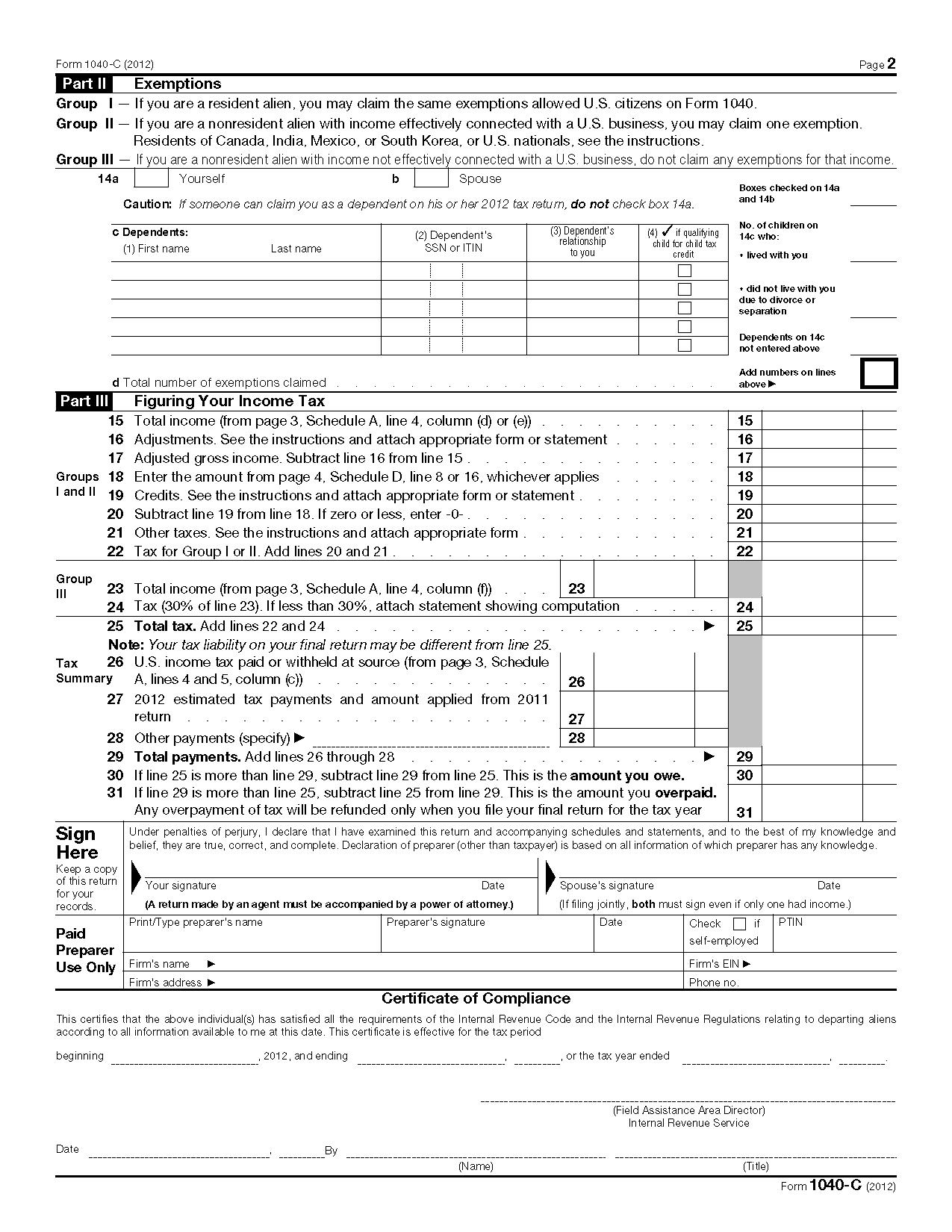 1040ez 2010 Form Printable