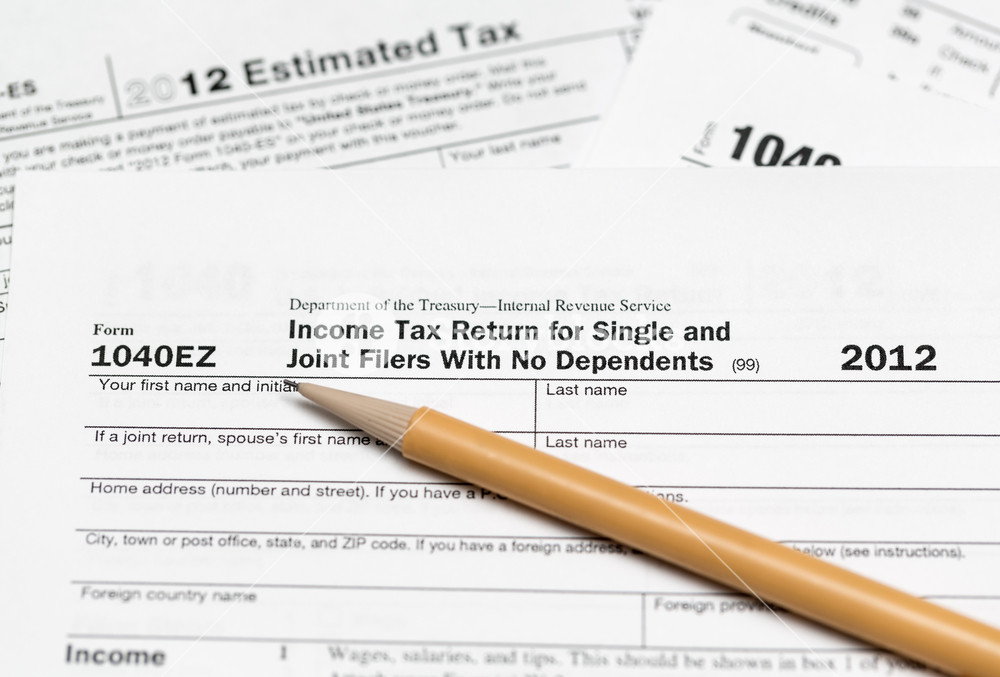 1040ez 2012 Tax Form