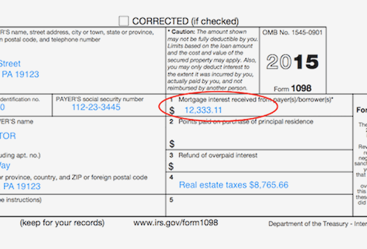 1098 Mortgage Interest Form Instructions