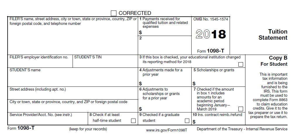 1098 T Tax Forms