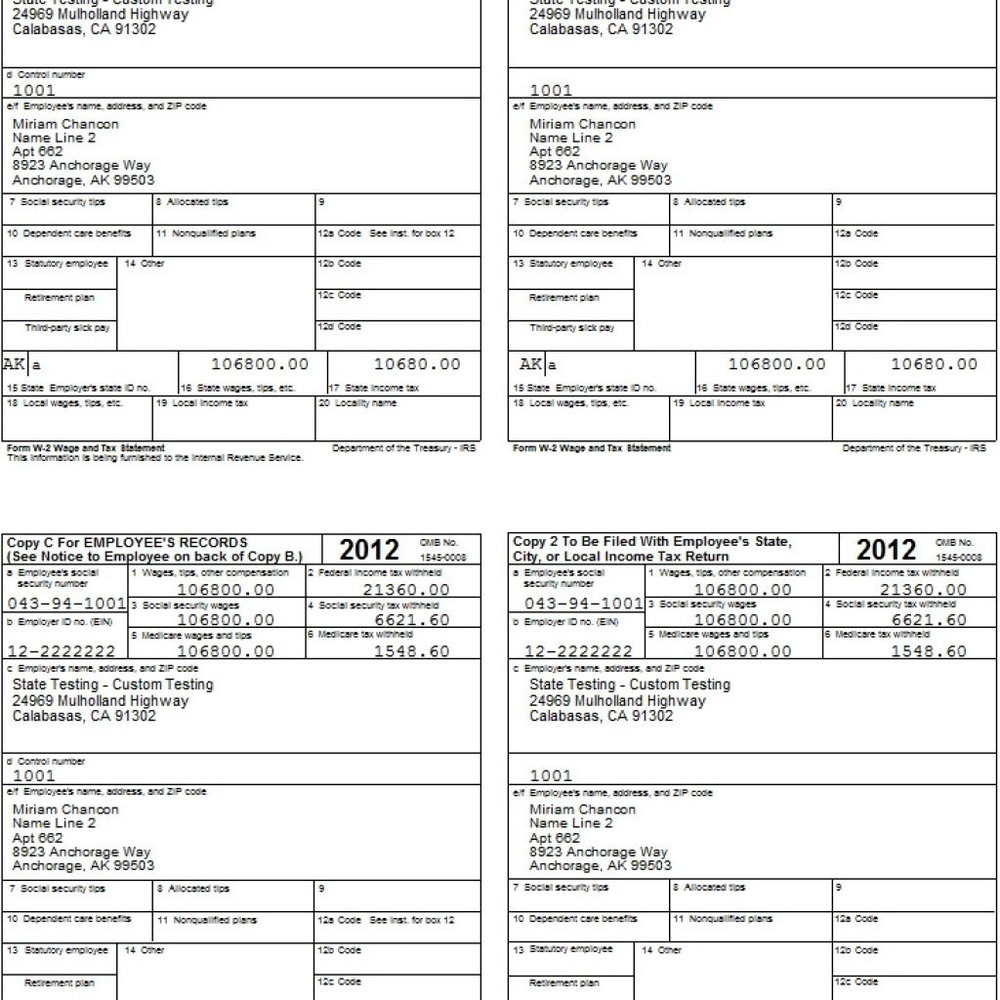 1099 Employee Form Printable 2016