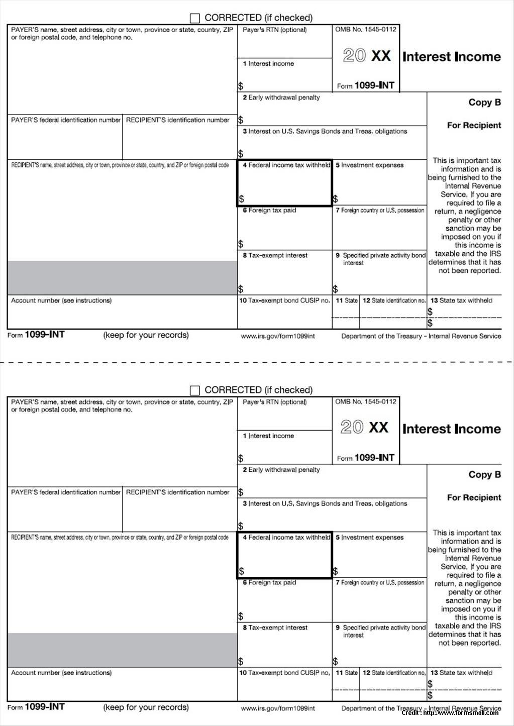 1099 Form 2014 Fillable Free