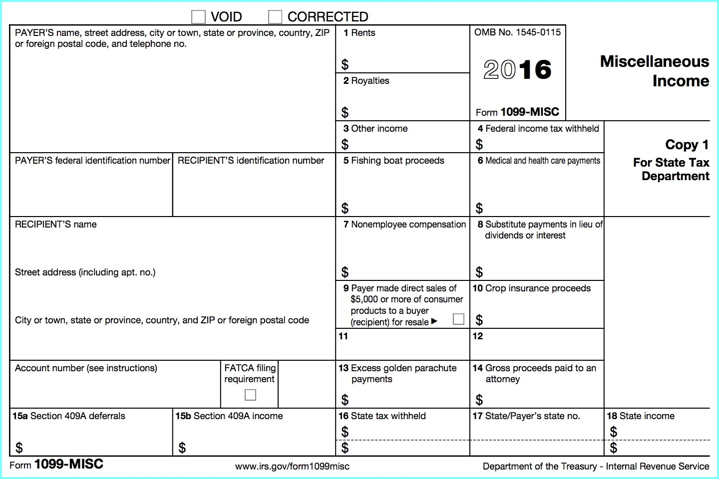 1099 Form For Independent Contractor 2017