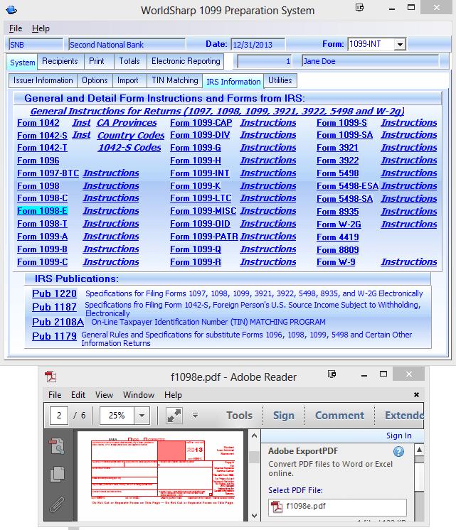 1099 Misc File Format