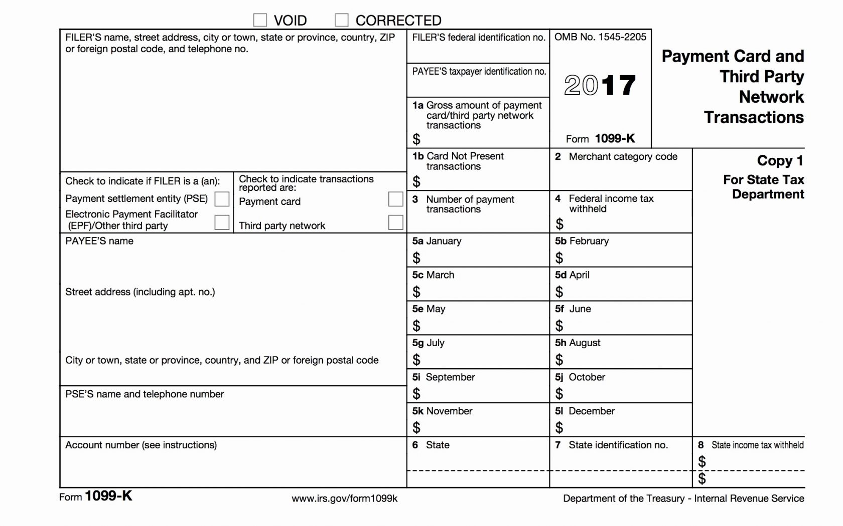 1099 Misc Form 2017 Free Fillable