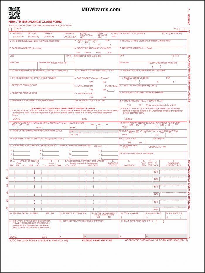 1500 Hcfa Form Free