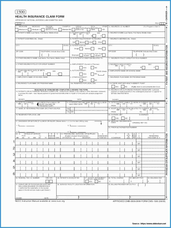 Free Health Insurance Claim Form 1500 Template Pretty Accident Insurance Claim Form Template Templates