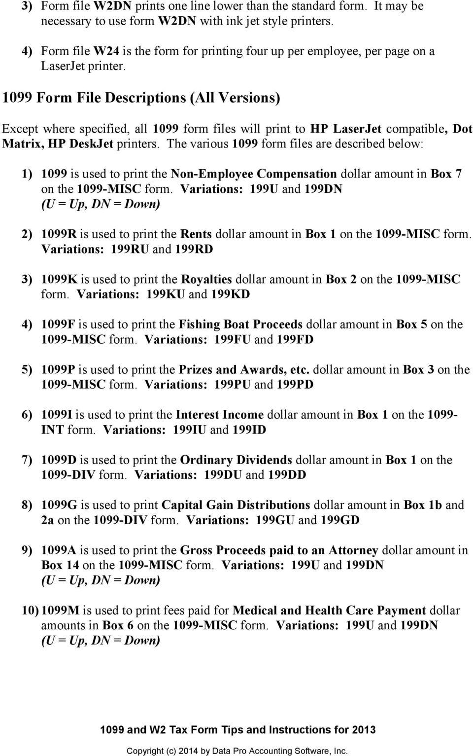 2013 W2 Tax Form