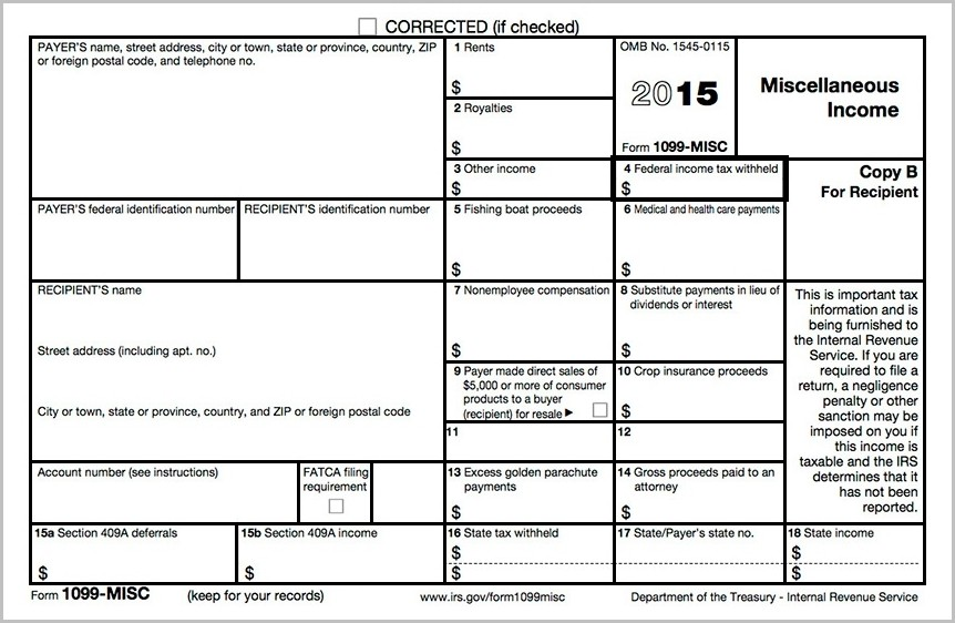 2015 Form 1099 Printable
