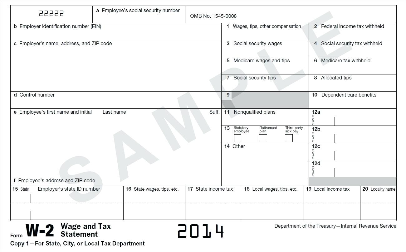 2015 W 2 Form Fillable