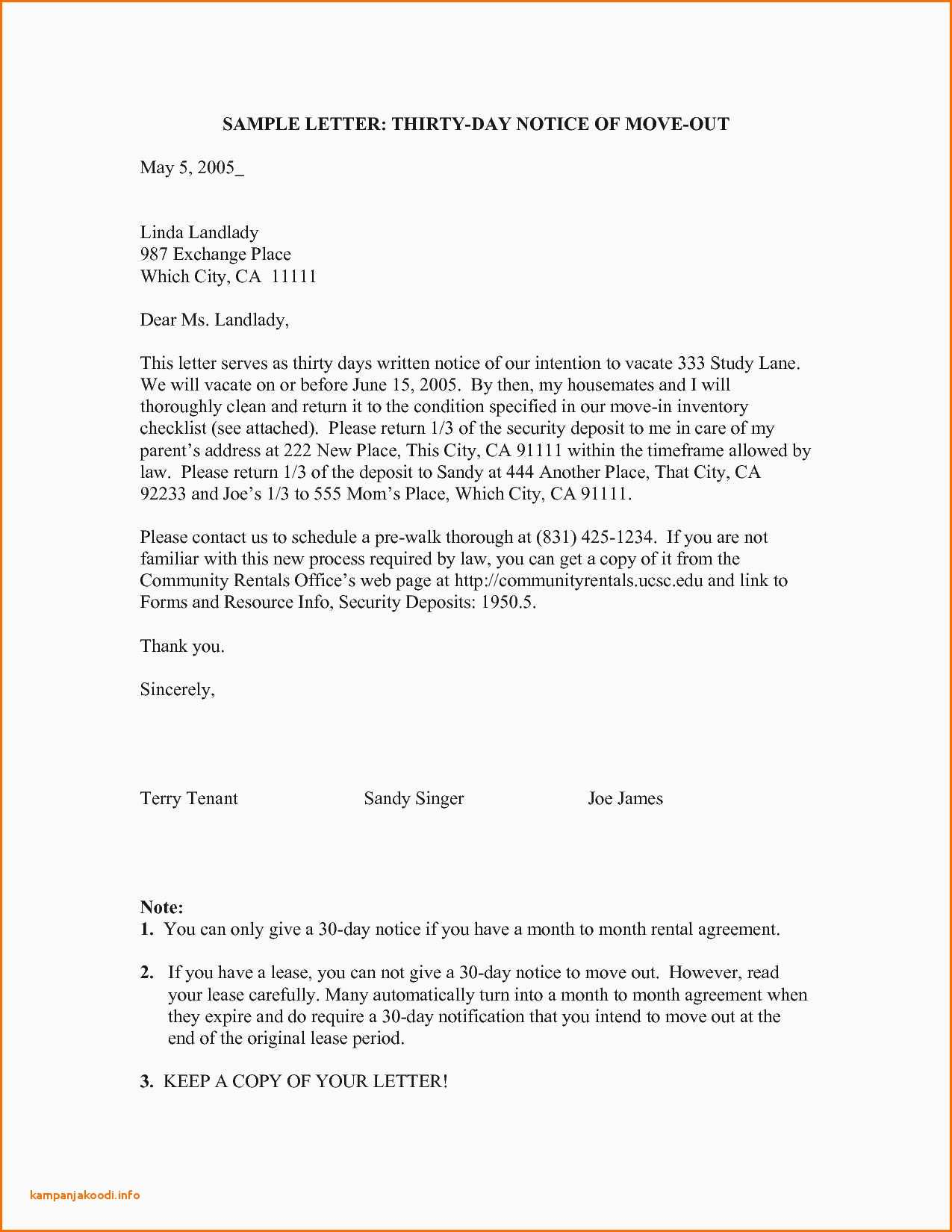 Notice To Vacate Letter 30 Day Eviction Notice Template Arizona New Awesome 3 Day Notice To