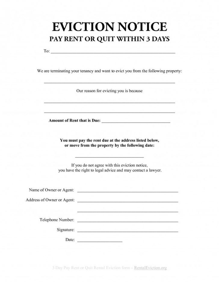 30 Day Eviction Notice Form Florida