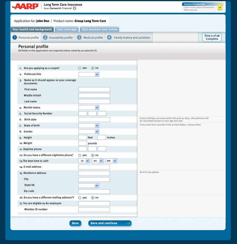 Aarp Life Insurance Application Form