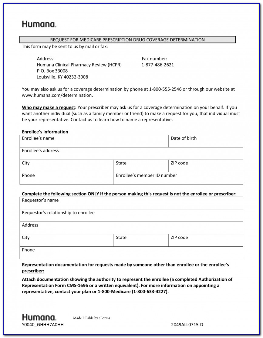 Aarp Medicare Part D Prior Auth Form