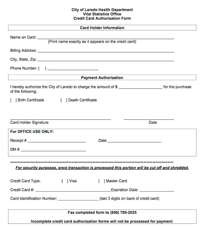 Ach Credit Authorization Agreement Form