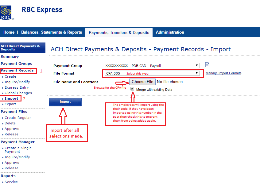 Ach Direct Deposit File Format