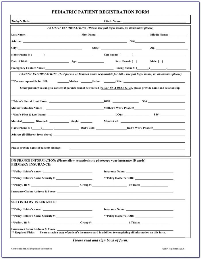 Ada Dental New Patient Forms