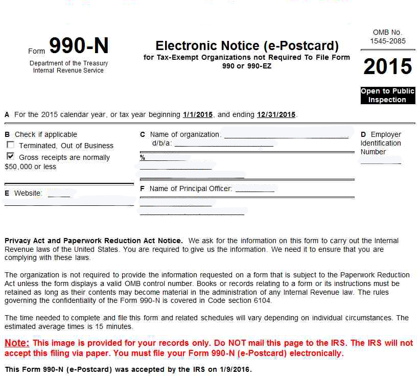 Address To File Form 990 Ez