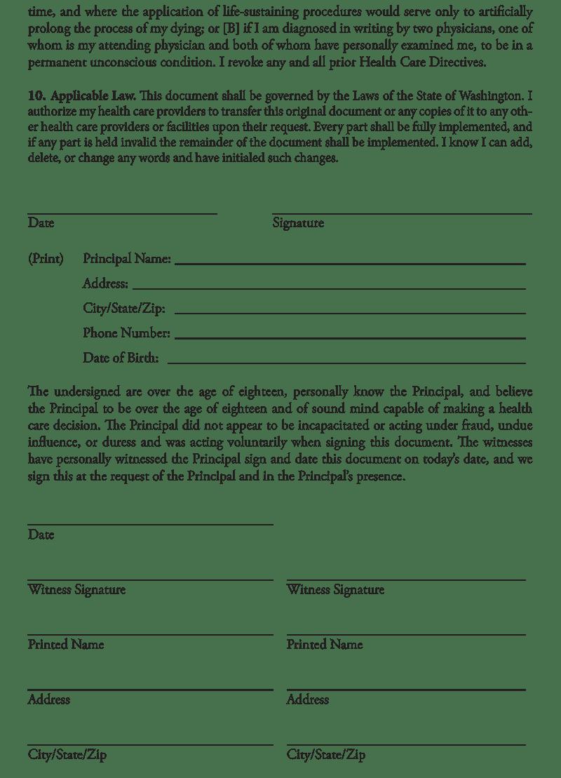 Advance Care Directive Forms Victoria