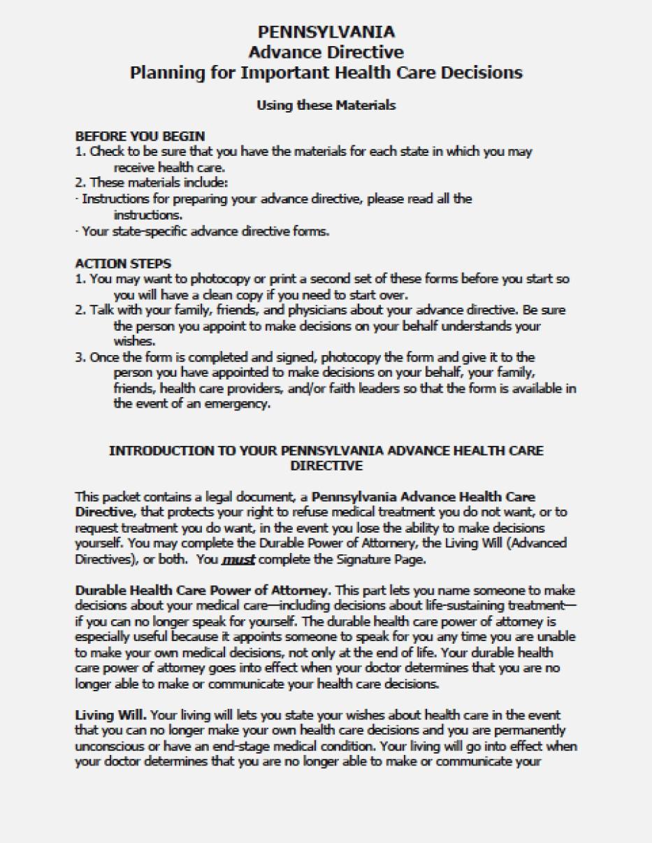 Advance Medical Directive Form Singapore