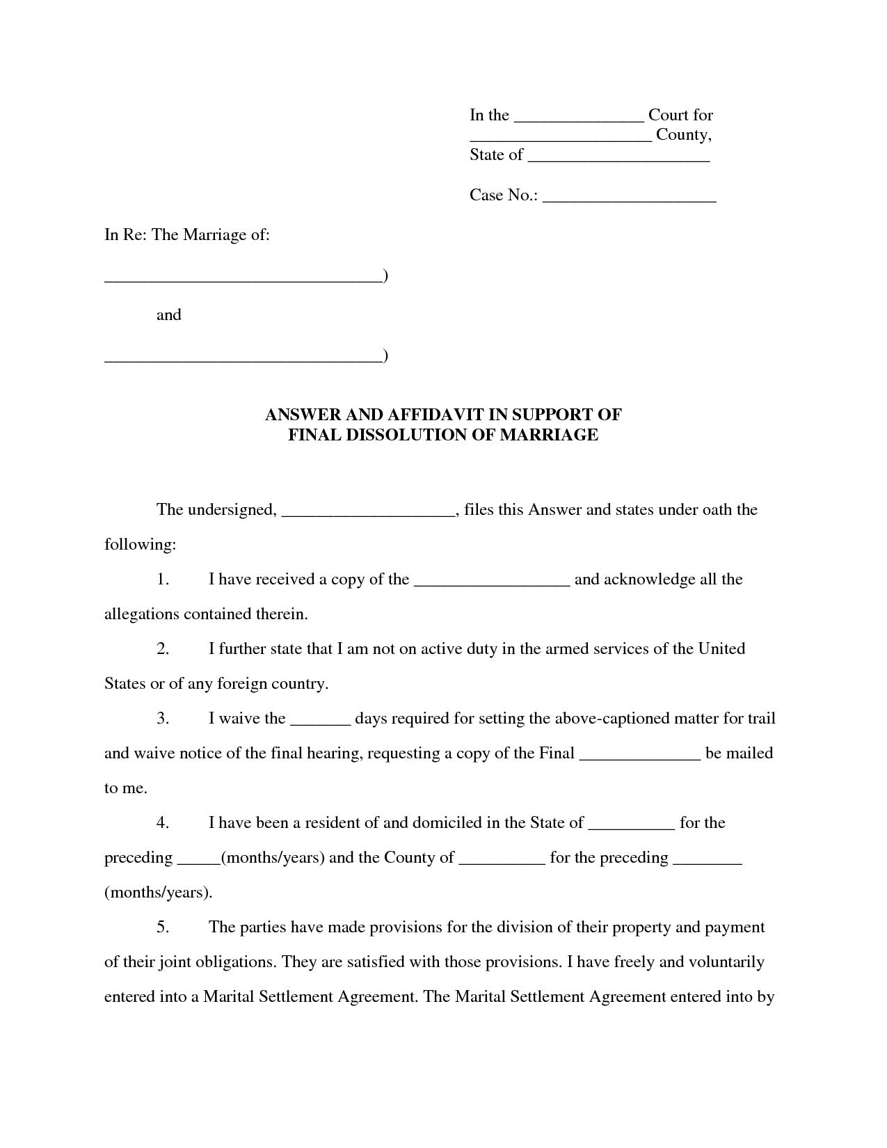 Affidavit Format For Love Marriage