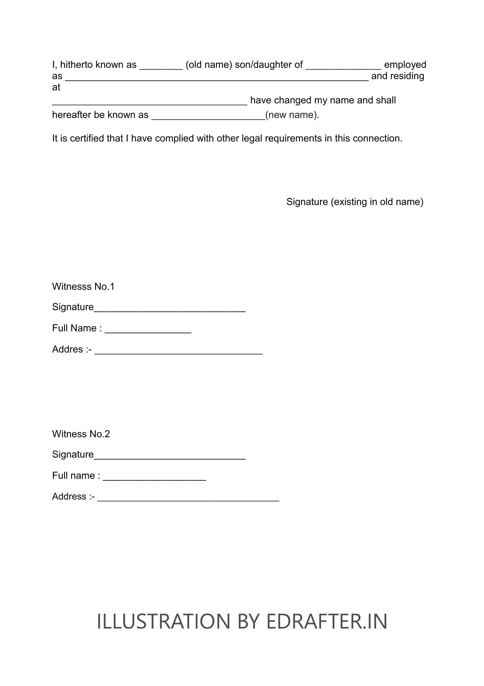Affidavit Format For Marriage Certificate In Mumbai
