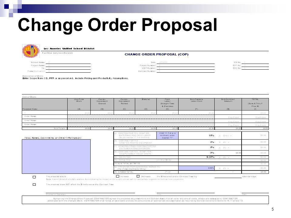 Change Order Proposal
