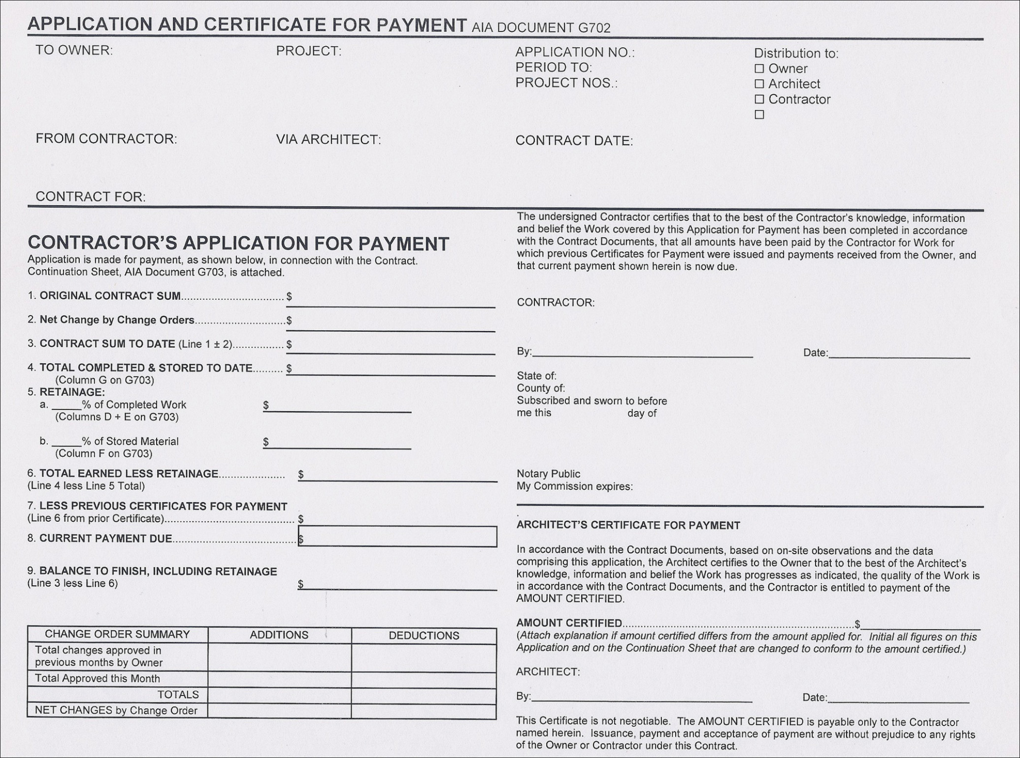 Aia Change Request Form