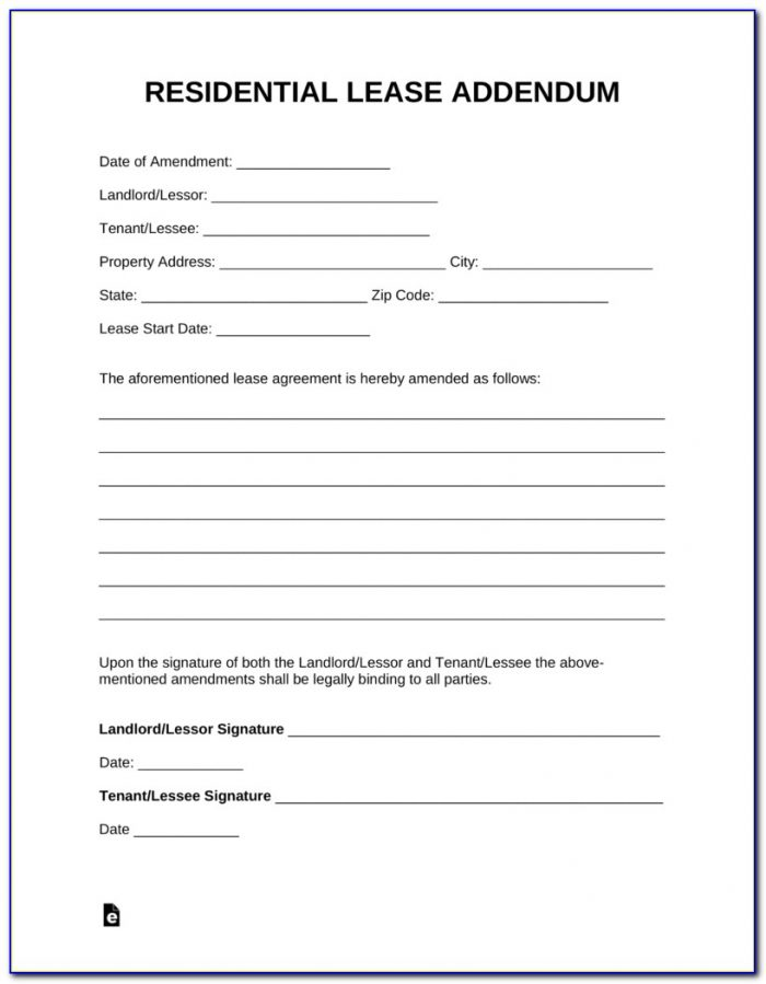Aia Contract Addendum Form