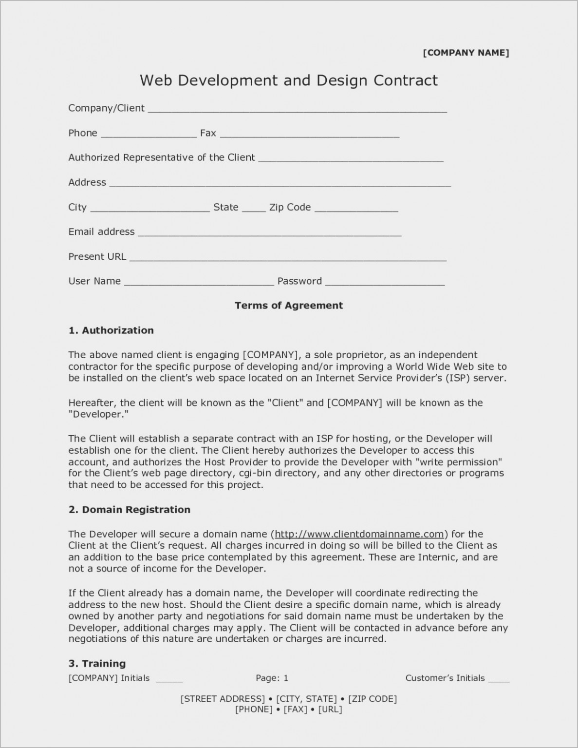 Aia Contract Short Form