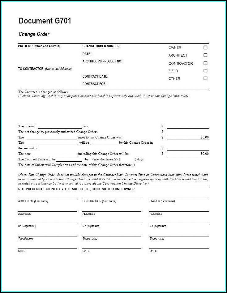 Aia Contract Template
