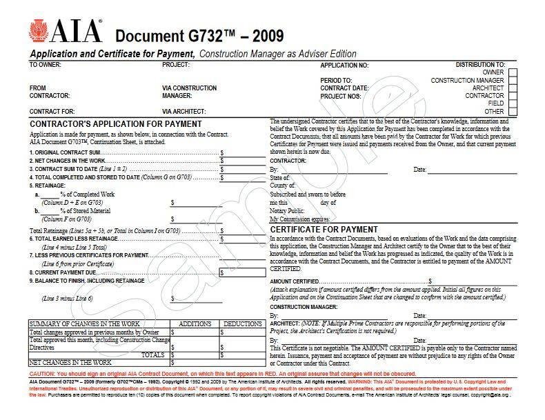 Aia Document G702cma