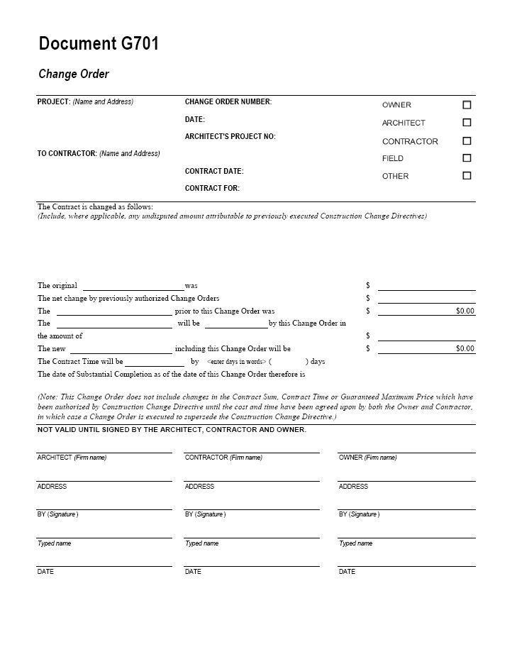 Aia G701 Form Free Download