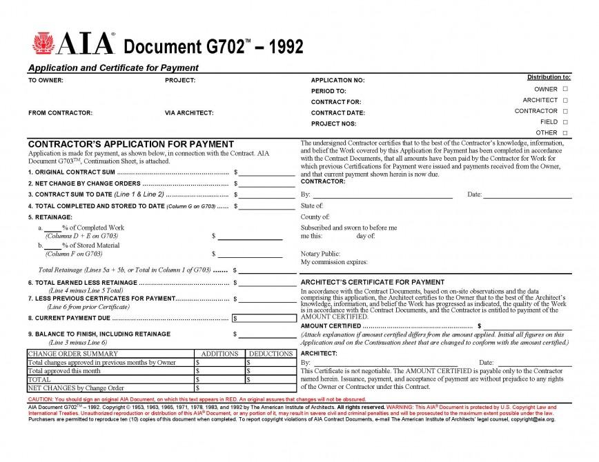 Aia G701 Form Pdf