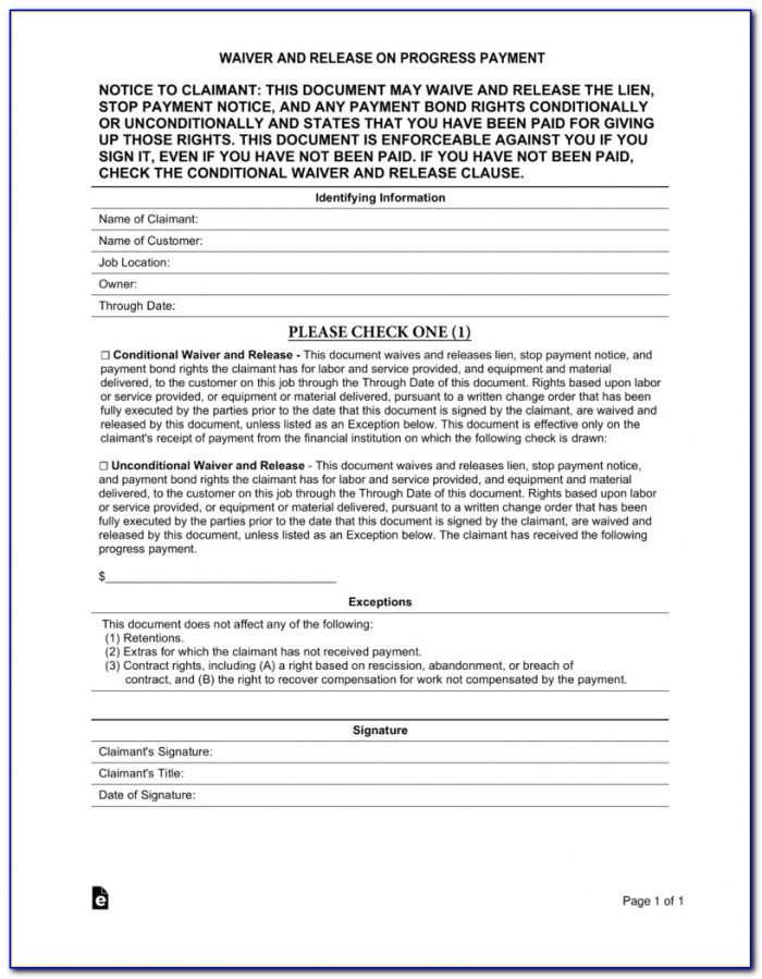 Aia Partial Lien Waiver Form