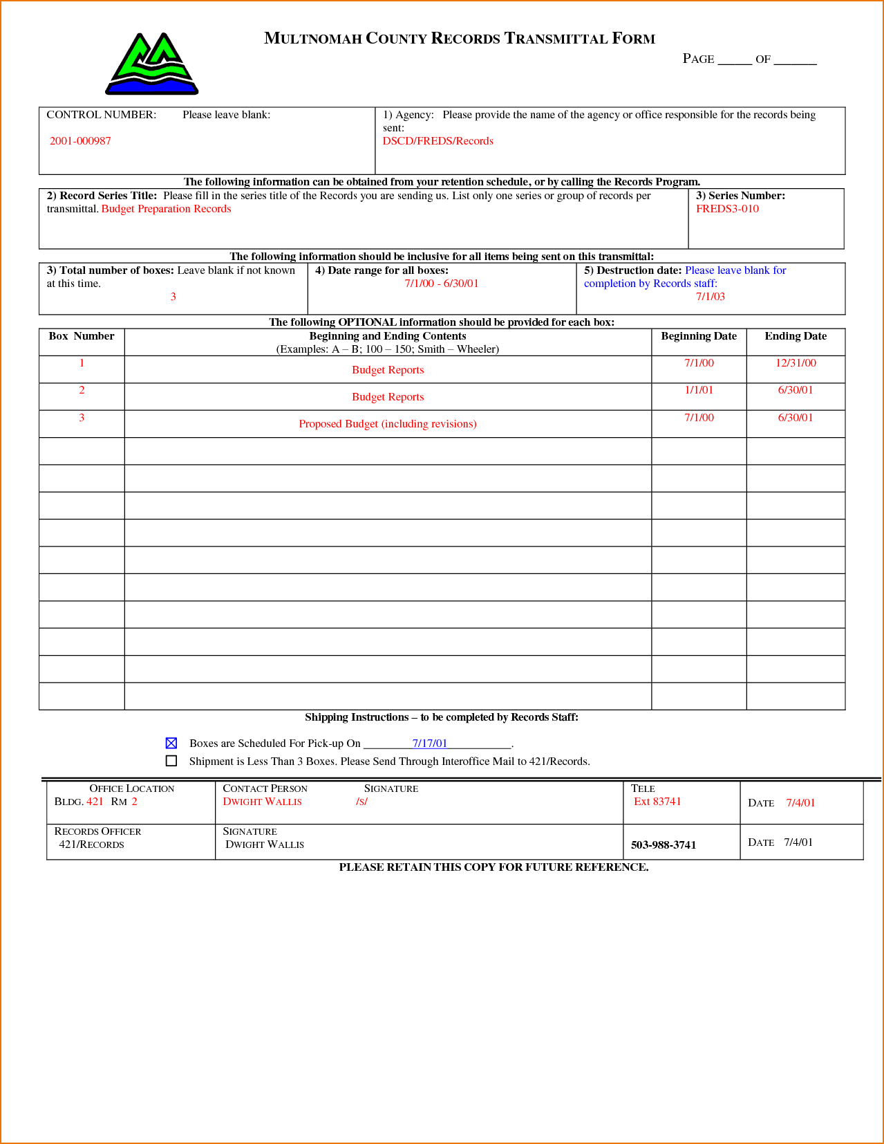 Aia Submittal Transmittal Form