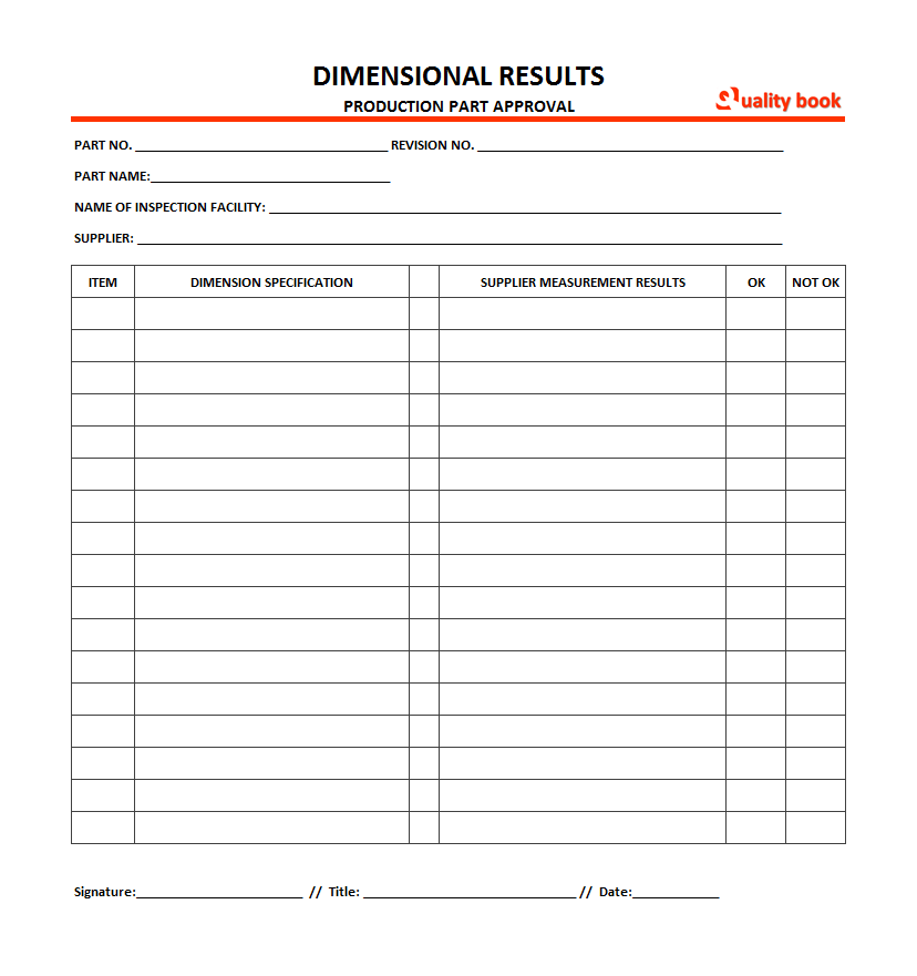 Aiag Component Ppap Forms