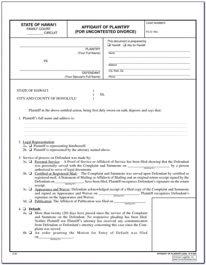 Alabama Uncontested Divorce Forms