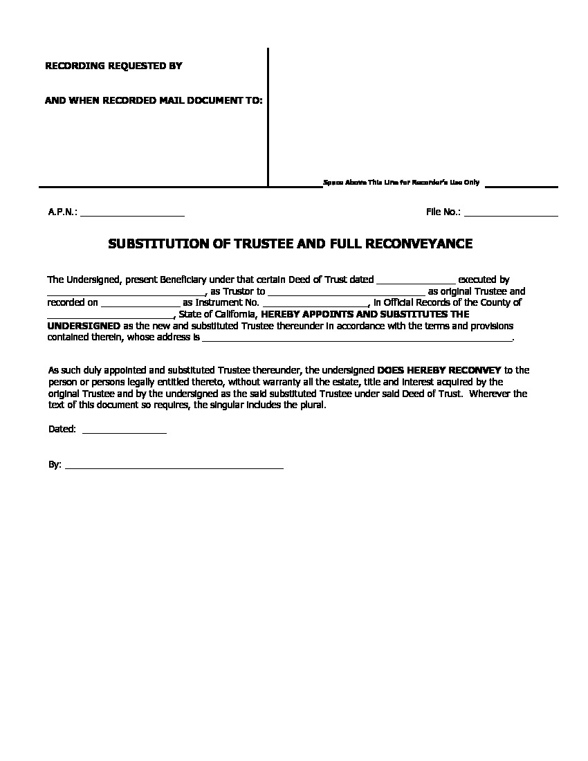 All Inclusive Deed Of Trust Form California