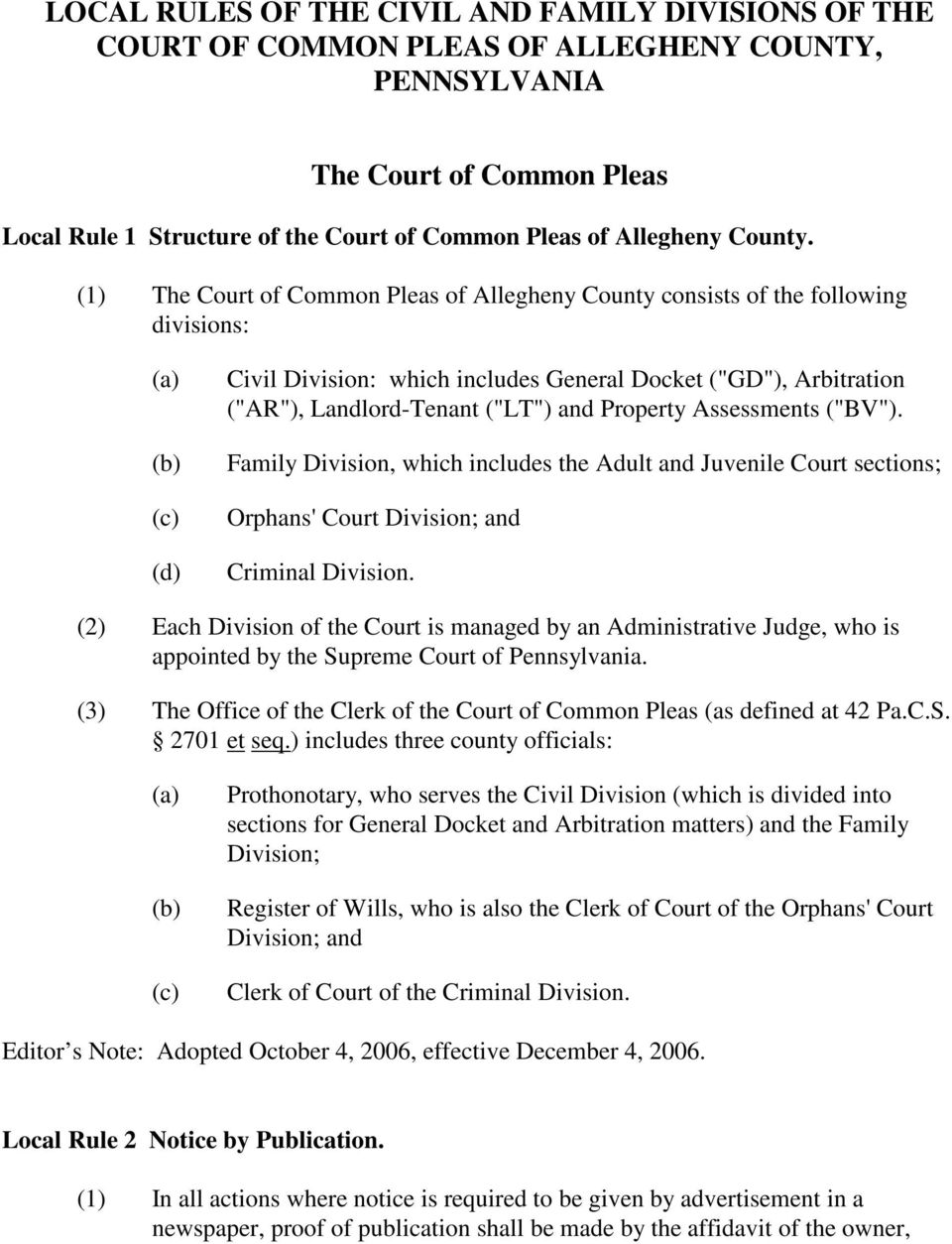 Allegheny County Divorce Filing Fees