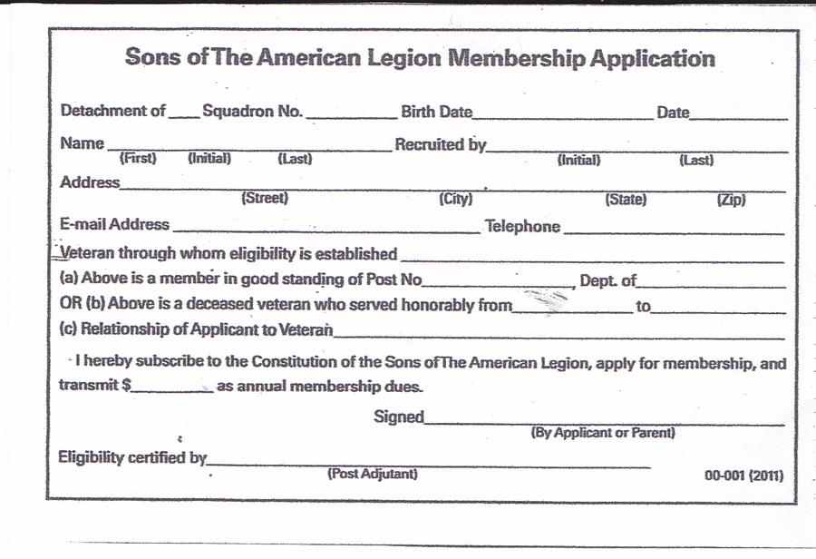 American Legion Member Forms