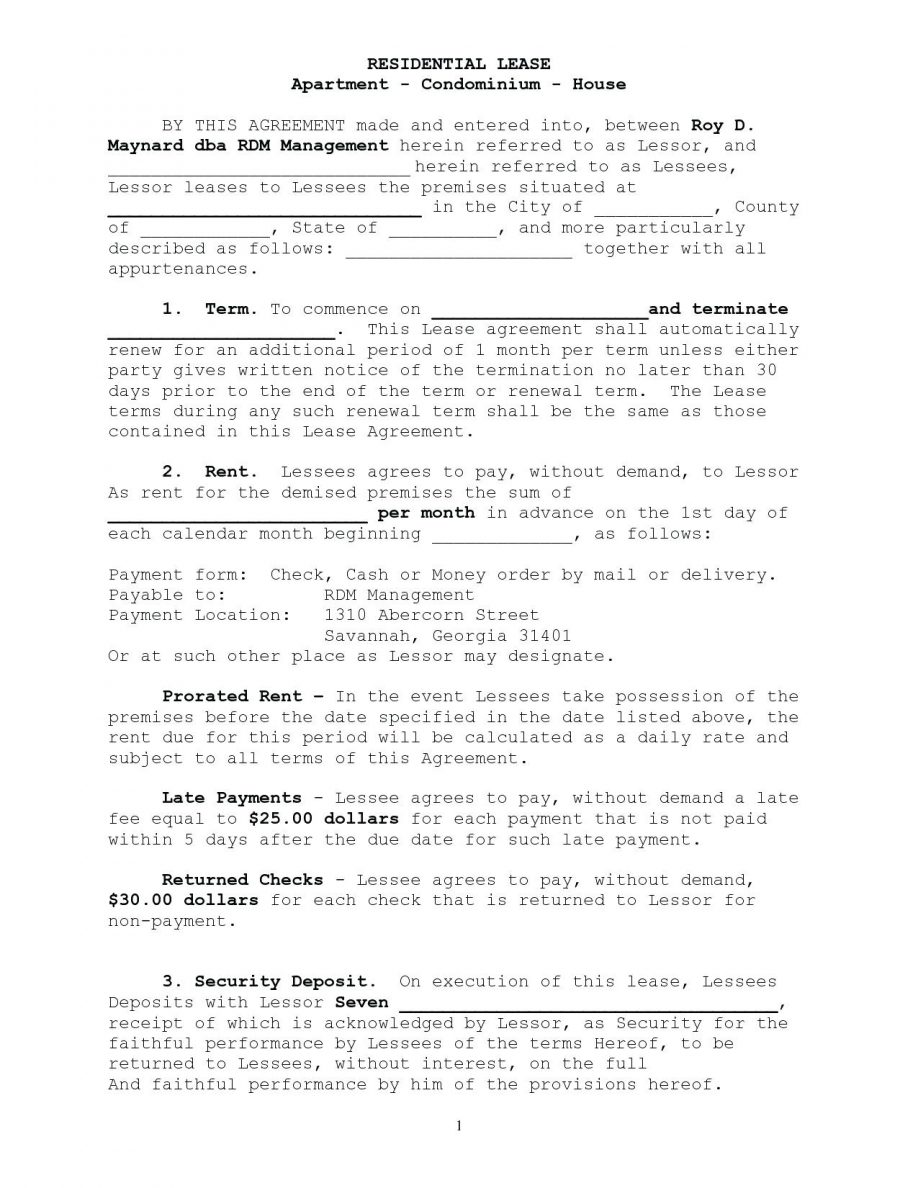 Apartment Rental Application Form Nj