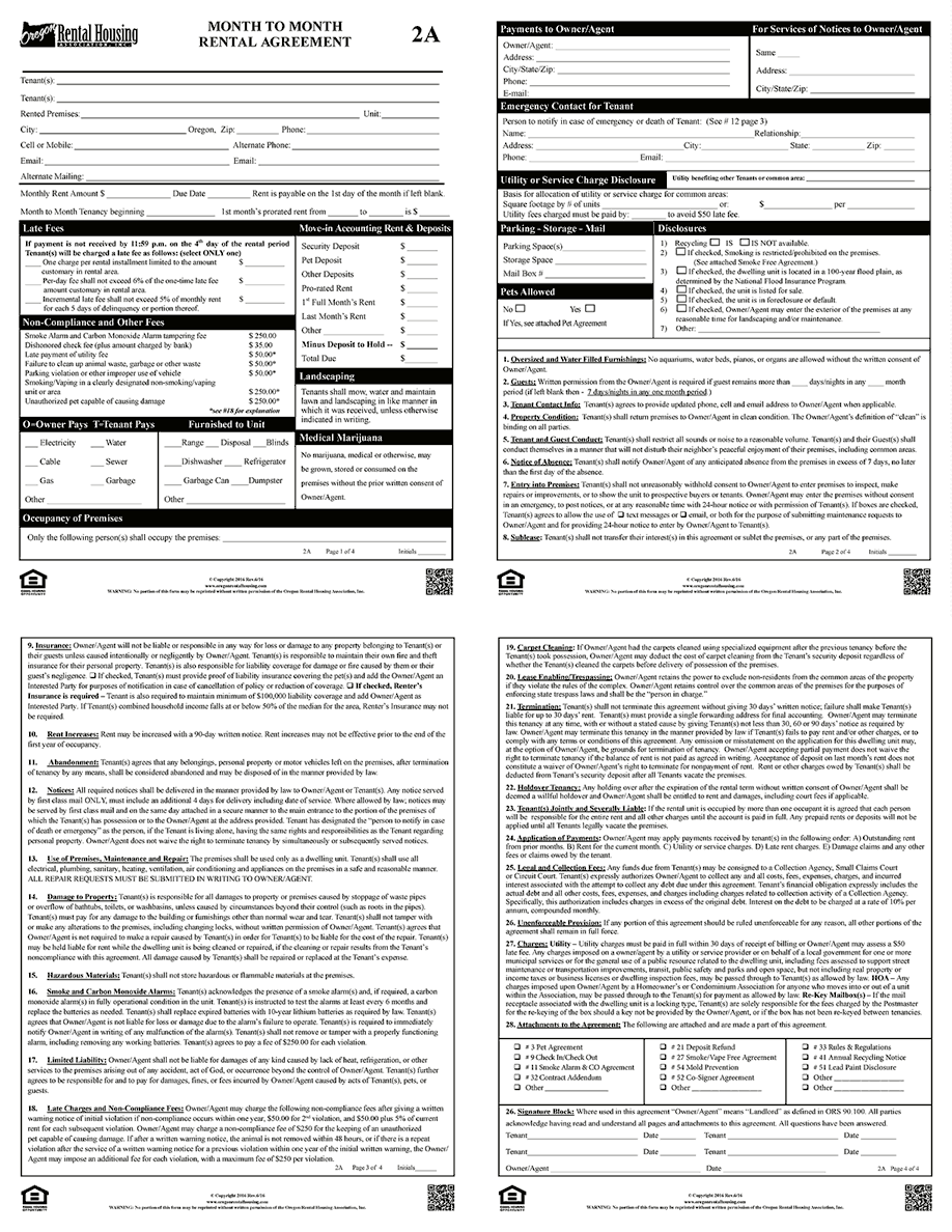 Apartment Rental Application Form Nyc