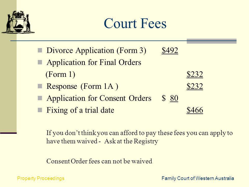 Application Form For Divorce In Western Australia