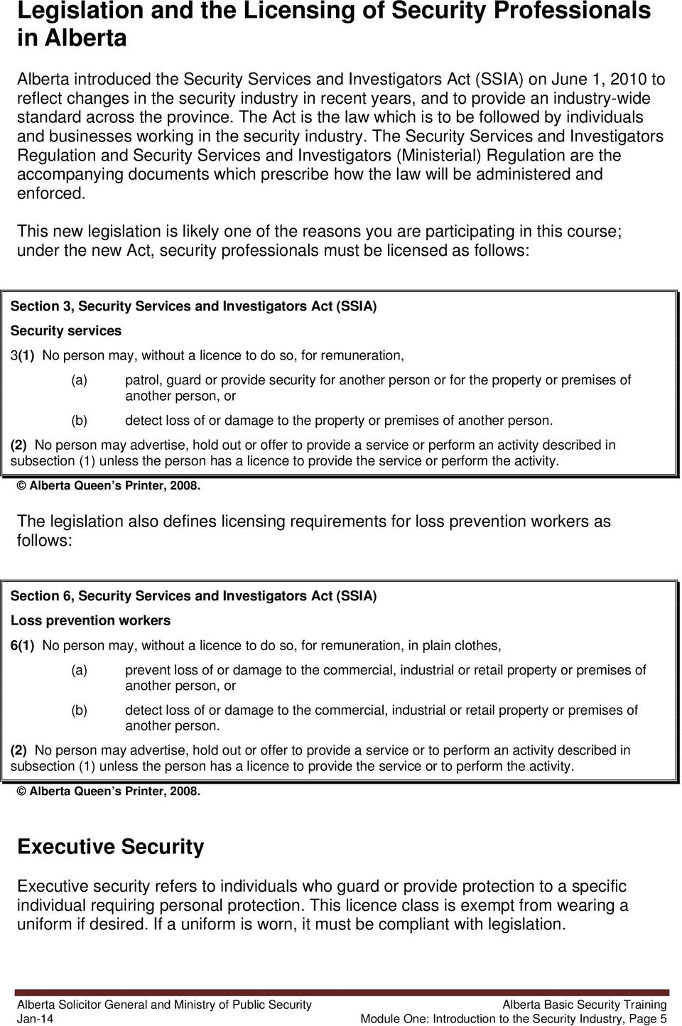 Application Form For Security Guard Licence Alberta