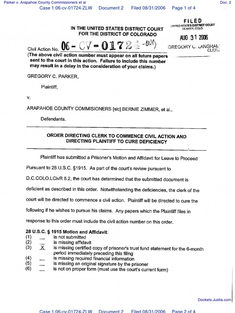 Arapahoe County Probate Court Forms