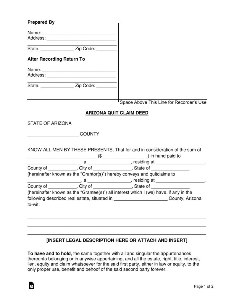 Arizona Deed Transfer Forms