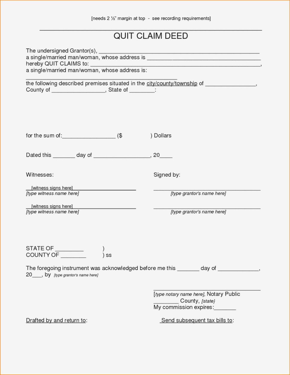 Arizona Quit Claim Form Free