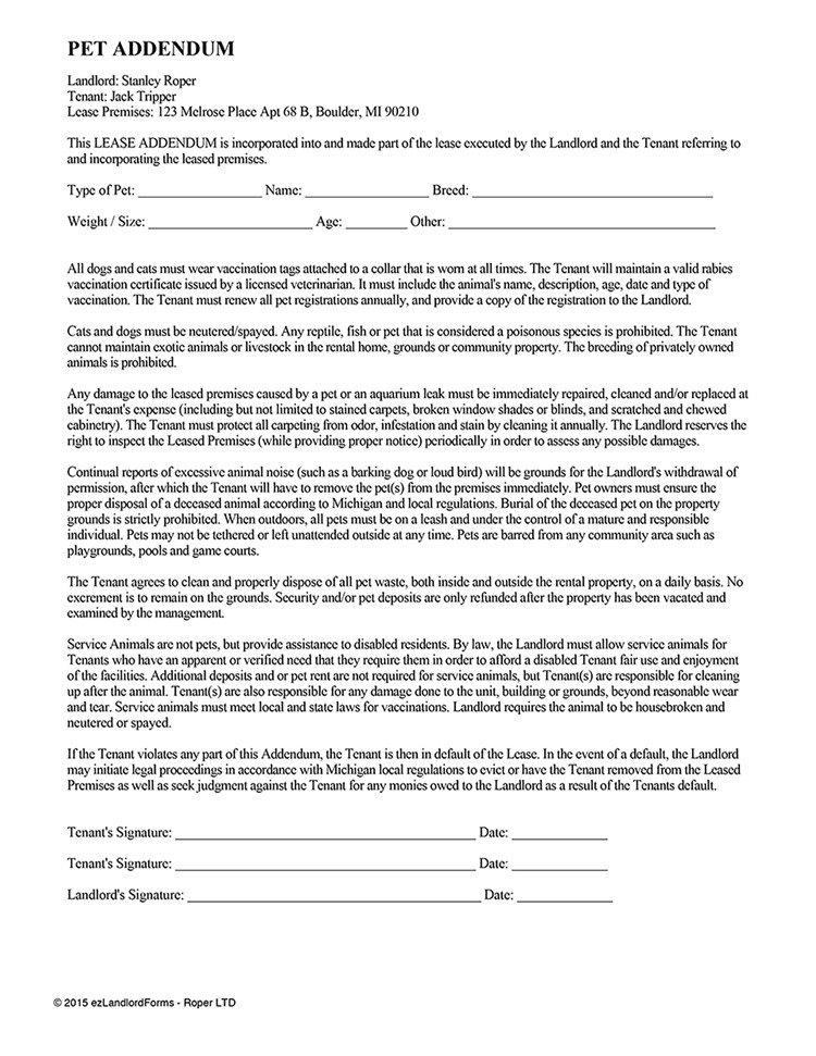 Arizona Residential Rental Agreement Form